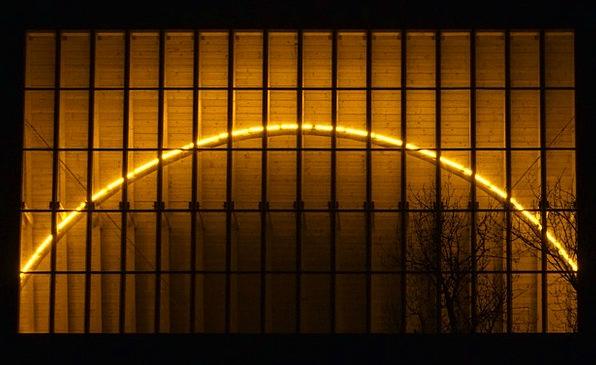 Frankfurt Am Main Germany Light Sculpture Portikus