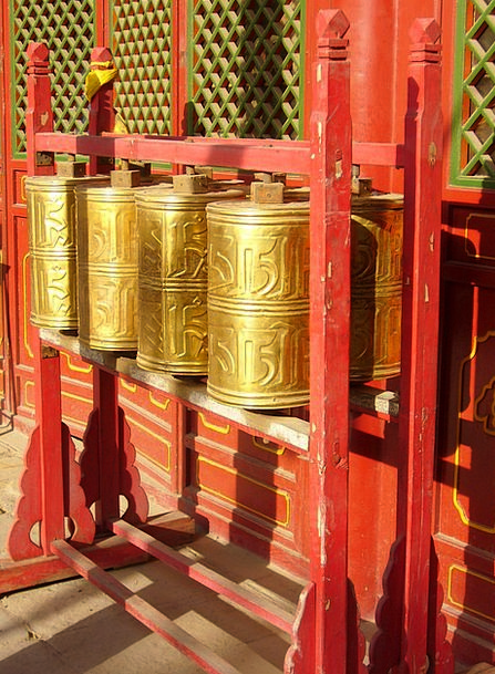 Mantra Chant Cloister Tibet Monastery China Porcel