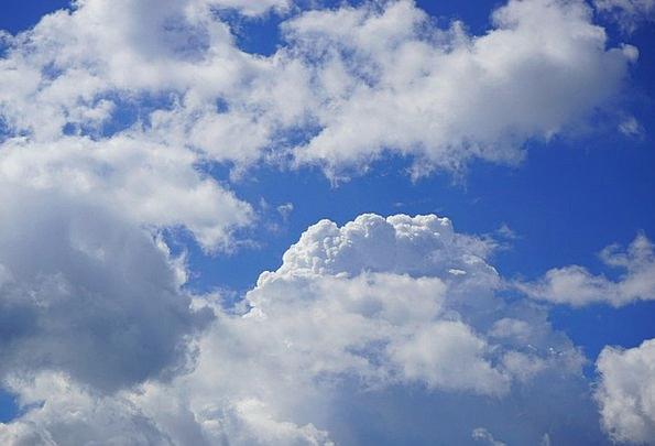 Sky Azure Clouds Vapors Blue White Snowy Cumulus C