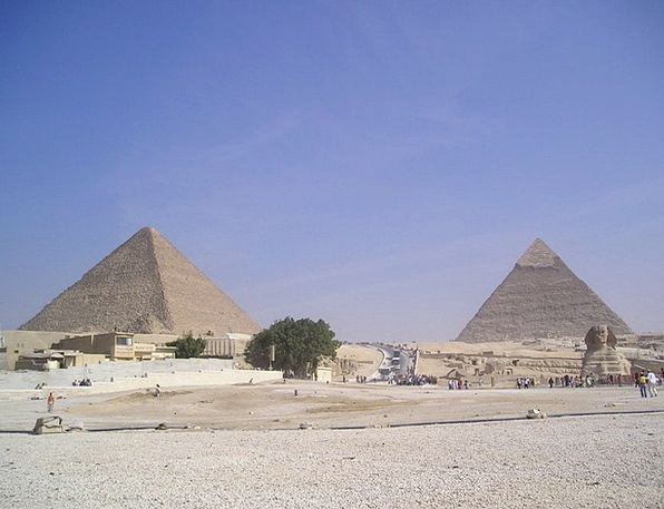Egypt Chephren Pyramids Cheops Weltwunder Egyptian