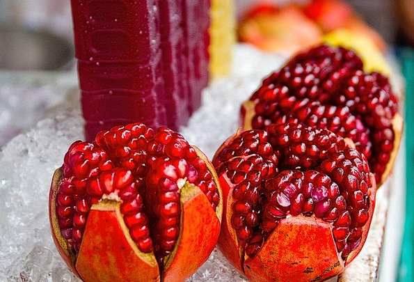 Pomegranate Drink Sap Food Fruit Ovary Juice Thail