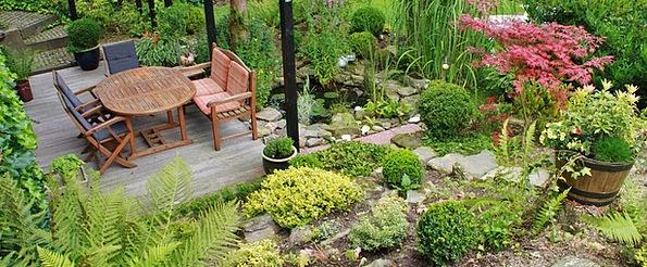 Terrace Walkway Landscapes Plot Nature Garden Desi