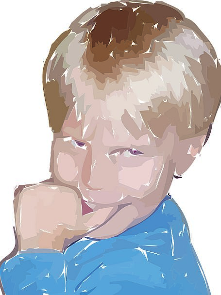 Boy Lad Cautious Nervous Anxious Shy Expressive Fa