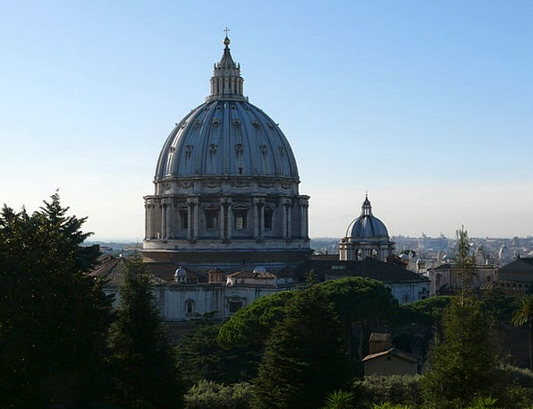 The Vatican The Vatican Gardens Cathedral Of St Pe