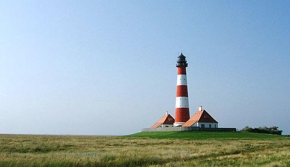 North Sea Watts Lighthouse Coasts Wadden Sea World