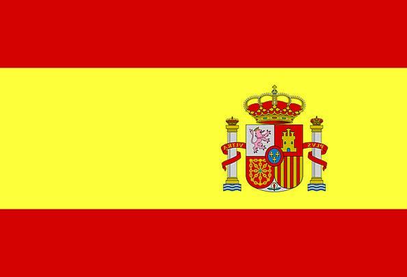 Spain Standard Spanish Flag National Nationwide Fr