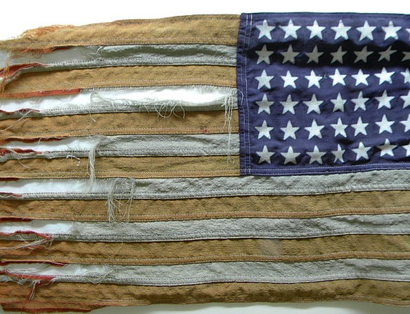 Tattered Flag Vintage Flag Old Glory Stars And Str