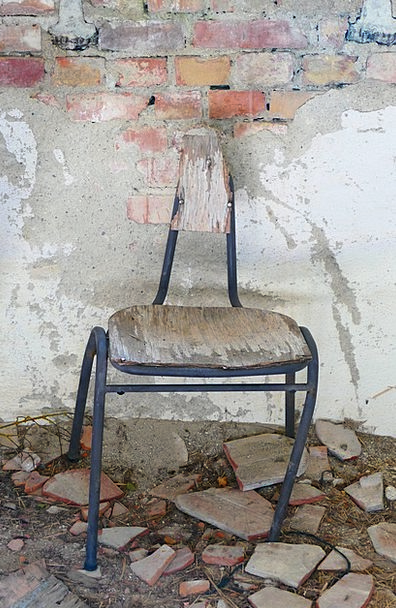 Chair Chairperson Ancient Broken Wrecked Old Sit B