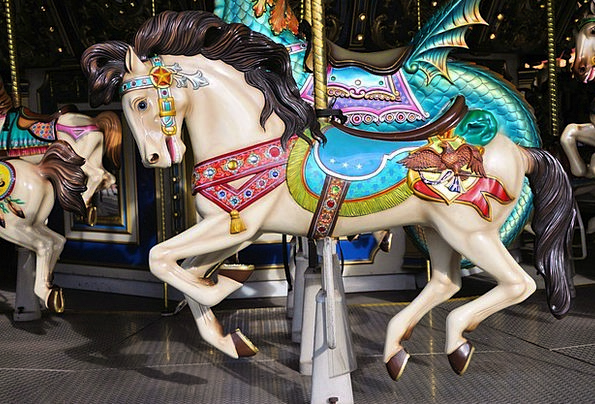 Merry-Go-Round Whirl Carnivals Horse Mount Fairs M