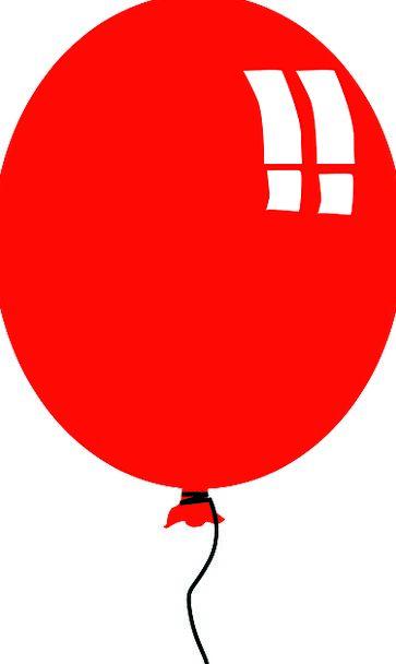 Balloon Inflatable Bloodshot Kids Children Red Dec