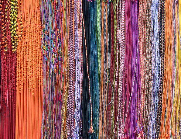 Beads Drops Multi-Colored Bright Sri Lanka Strings