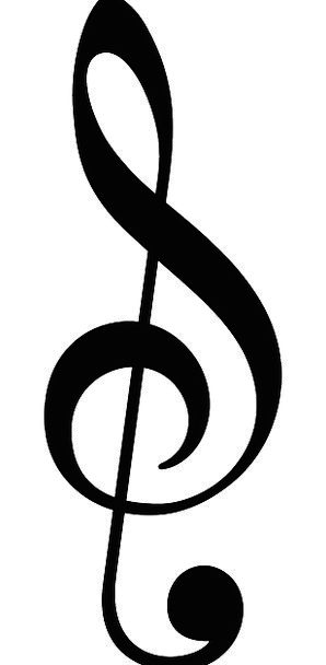 music triple clef treble concert musical melodic a