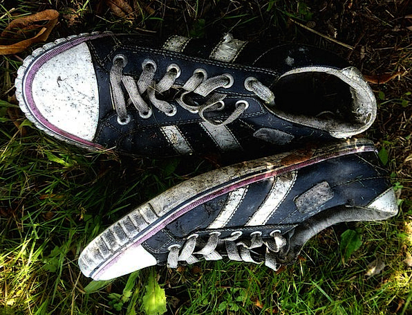 Sneaker Running shoe Ancient Dirty Dull Old Shoes