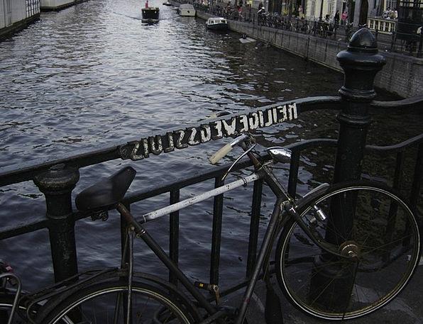 Bike Motorbike Channel Station Amsterdam Holland