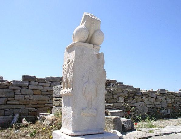 Greece Art Painting Delos Statue Figurine Unusual