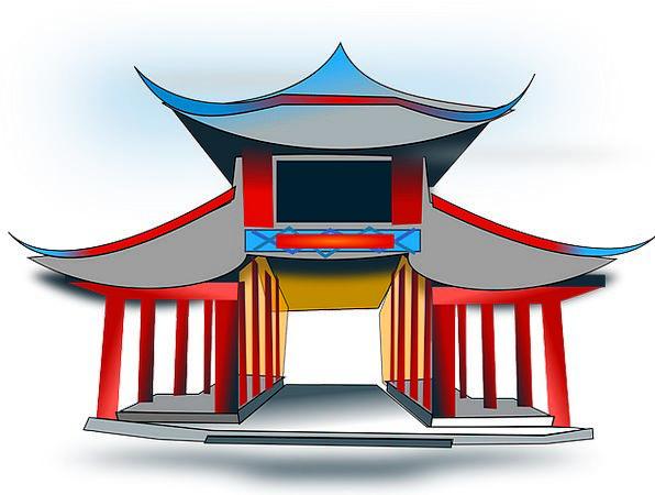 Temple Shrine Pavilion Rotunda Architecture Buildi