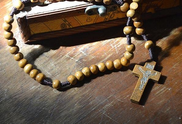 The Rosary Drops Christian Beads Cross Irritated J