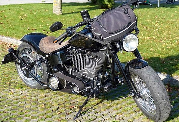 Motorcycle Motorbike Black Dark Harley Davidson Mo