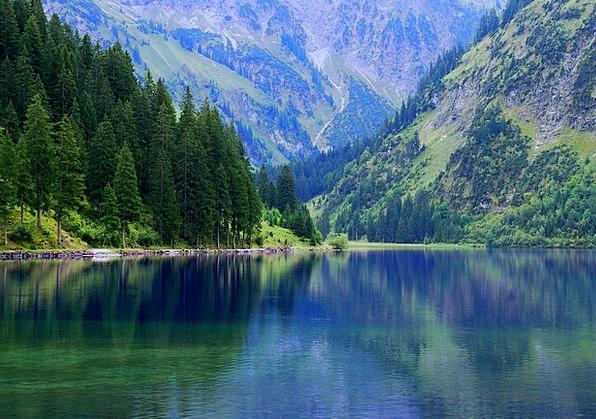 Vilsalpsee Landscapes Nature Tannheim Austria Holi