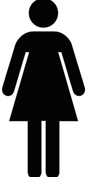 Female Feminine Fashion Lavatory Beauty Public Com