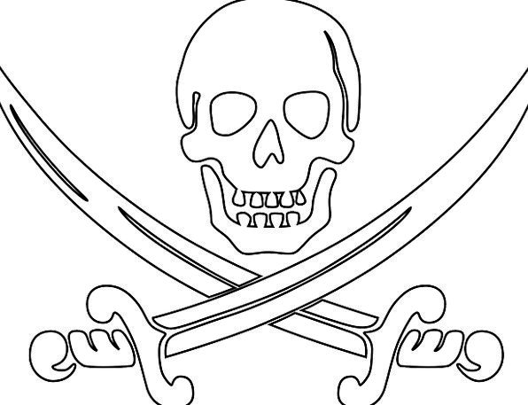 Skull And Sword Coloring Pages Sketch Coloring Page