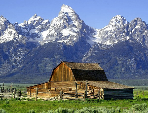 Barn Outbuilding Shed Mormonisch Hut Wyoming Teton