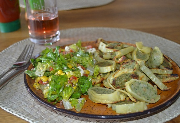 Maultaschen Drink Food Lunch Salad Fried Cooked Ea