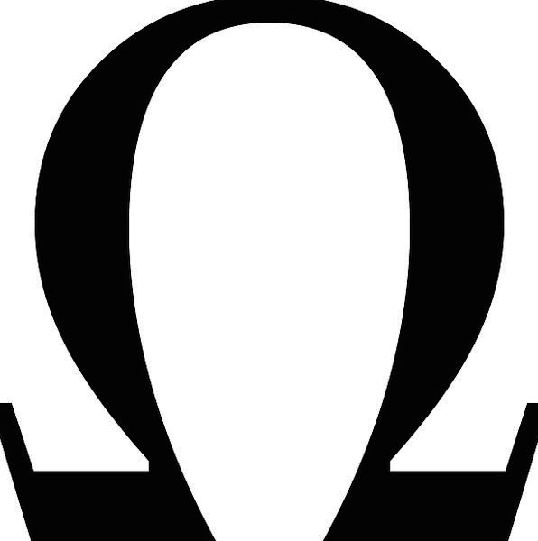 Omega Ohm Greek Letter Communication Symbols Small Case