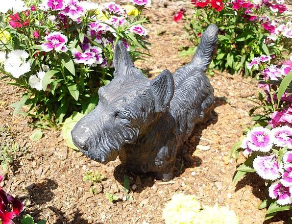 Terrier Figurine Statue Bronze Scottish Garden Sco