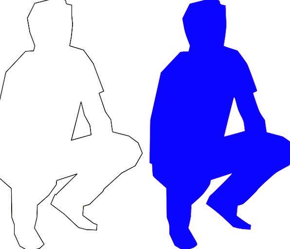 Squatting Crouching Gentleman Adult Mature Man Med