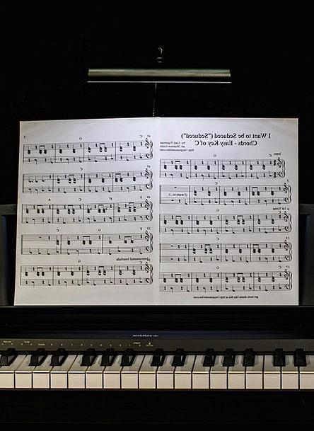 Piano Lesson Melody Keyboard Console Music Sheet M