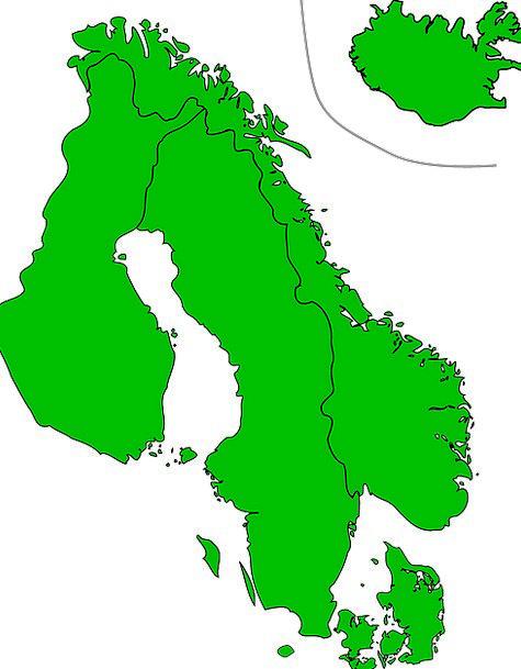 Scandinavia Chart Countries Republics Map Sweden F