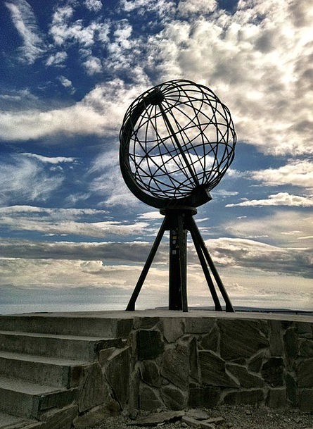 North Cape Globe Sphere Norway Sky Blue