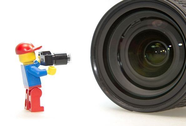 Photographer Paparazzo Lego Lens Cut Out Photo Pho