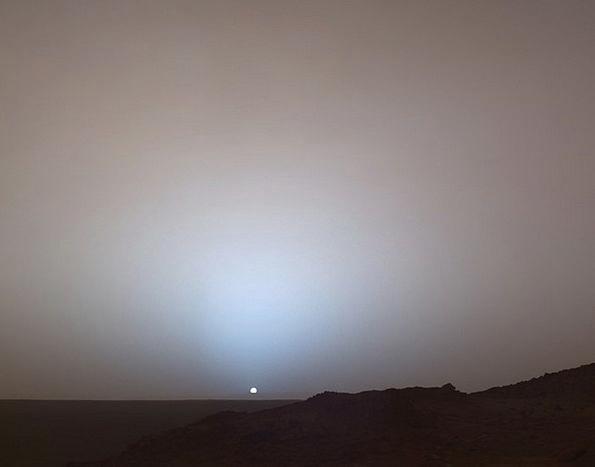 Mars Defaces Earth Sunrise Dawn Planet Surface Sup