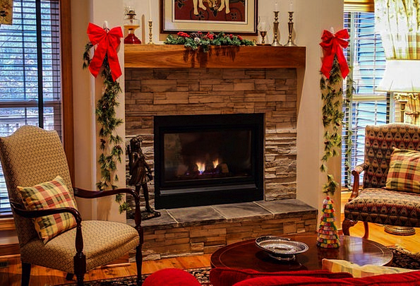 Fireplace Living Room Lounge Mantel Hearth Cozy Ex