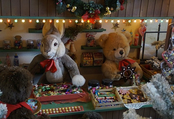 Christmas Market Attitude Sales Stand Stand Lichte