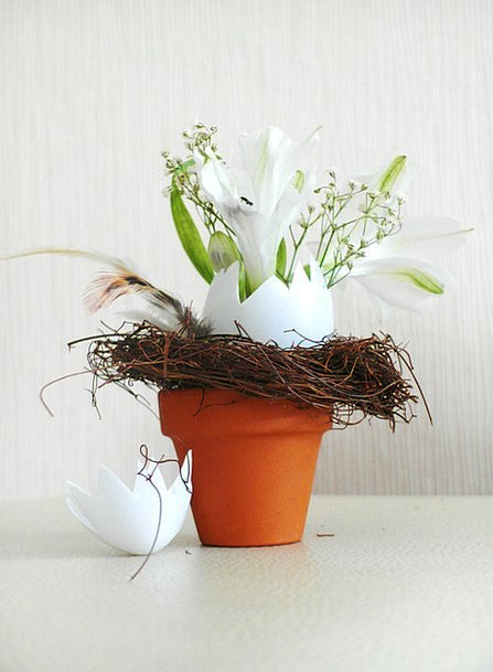 Easter Planter Floral Arrangement Flowerpot Easter