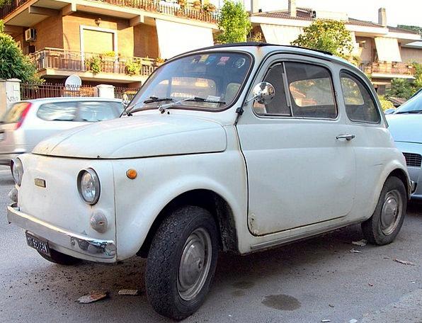 Fiat 500 Sanction Old Car Fiat Rome