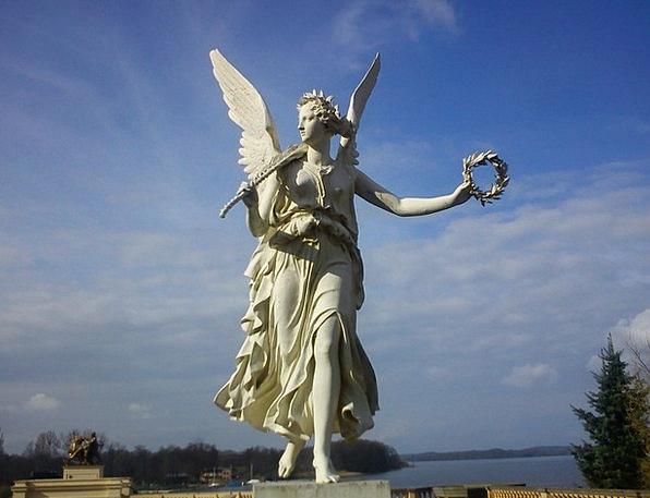 Schwerin Castle Seraph Statue Figurine Angel Stone