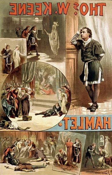 William Shakespeare Village Poster Picture Hamlet