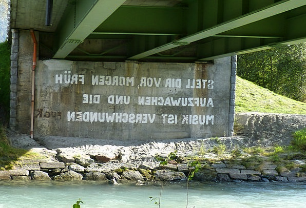 Bridge Piers Proverb Sprayer Sprinkler Saying Font