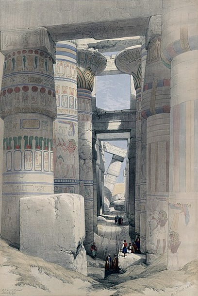 Karnak Temple Columnar Pillared Hall Temple Comple
