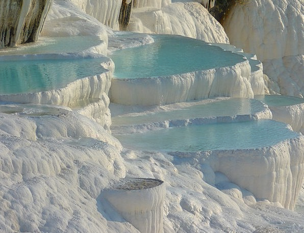 Pamukkale Landscapes Nature Calcium Lime Sinter Te