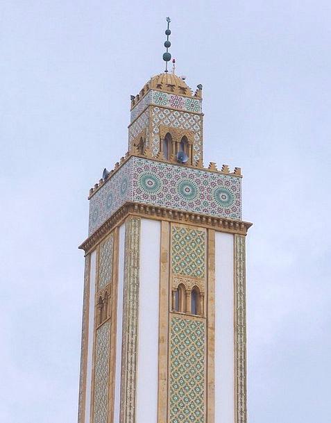 Morocco Mosque Agadir Clouds Faith Confidence Arch