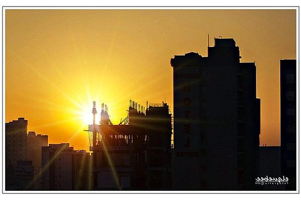 Salmiyah Vacation Travel Sunset Sundown Kuwait Lan