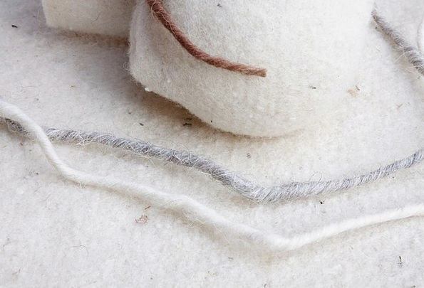 Sheep'S Wool Natural Fiber Sheep Wool-Felt Soft Na