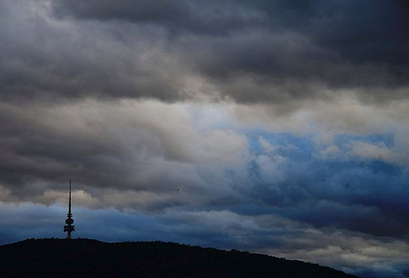 Canberra Bad Weather Telstra Tower Clouds Vapors A