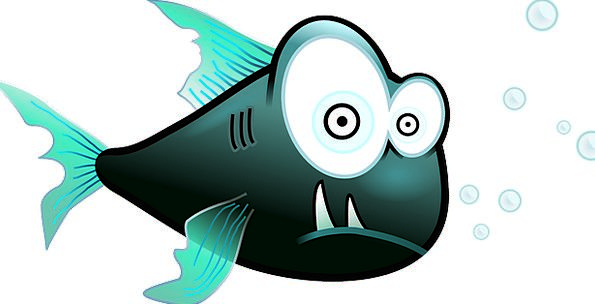 Fish Angle Humorous Cartoon Animation Funny Piranh