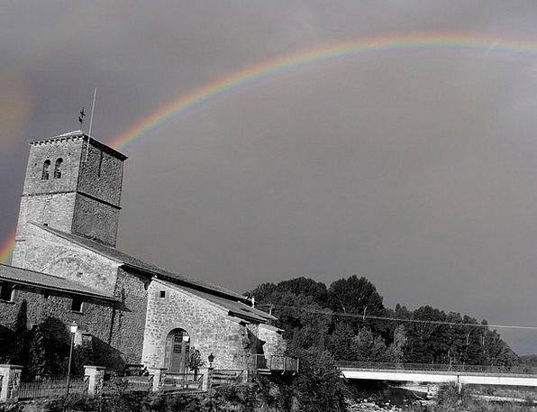 Santa Cilia Church Ecclesiastical Aragon Rainbow M